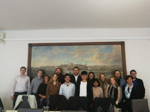 The project team at the Municipality Ptuj Townhouse